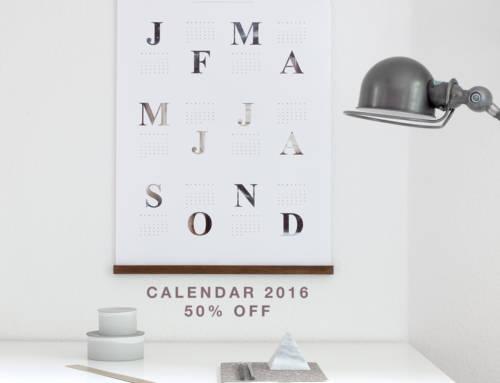Calendario 2016 – 50% de DESCUENTO