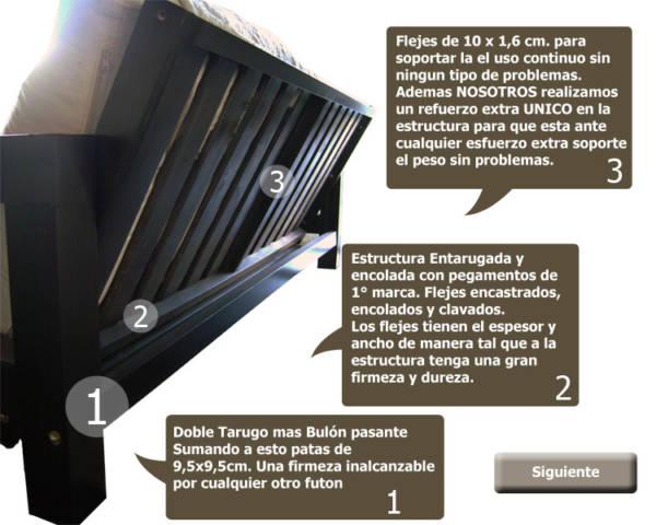 Futon 3 Cuerpos Diseño Italiano Laqueado + Colchón
