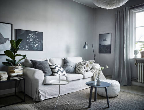 Acogedor hogar gris