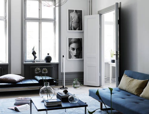 Inspirando azul y negro