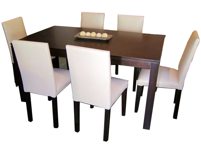 Mesa Rectangular + 6 Sillas Italianas
